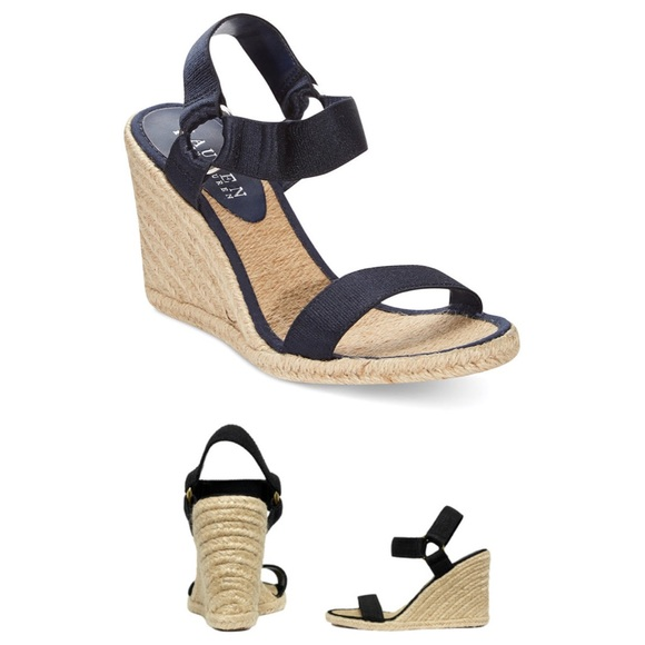3768bbb1e66 Lauren Ralph Lauren Shoes - LAUREN RALPH LAUREN Indigo Black Wedge Sandal